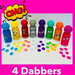 Bingo Dabbers 4 Pack Diddi Dabbers Lockdown Bingo Kids Bingo kids Toy 4 DIDDI
