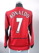 RONALDO #7 Manchester United Home Long Sleeve Football Shirt Jersey 2003/04 (M)