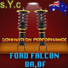 Ford Falcon BA, BF Front Coilover Kit - SYC Fully Adjustable Front Coilovers