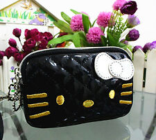New Hellokitty Make up / Cosmetic / Coin Bag Clutch Bag Wallet 12B6 Black