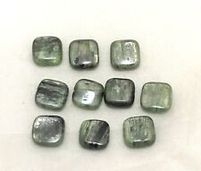 Natural green KYNITE square bead / strand 10mm(w) x 10mm(l) - 10 beads