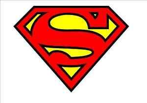 IRON ON TRANSFER  - SUPERMAN LOGO - SUPERHERO SUPER MAN SYMBOL T-SHIRT