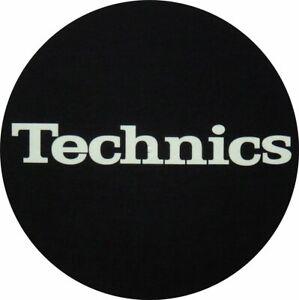 Slipmat Technics Black Logo Yellow Bright 1 Piece