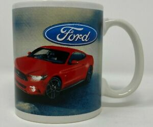 Ford Mustang Coffee Mug Cup Red Car Officially Licensed Ford Motor Company