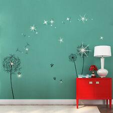 Walplus Wall Sticker Huge Black Dandelion Swarovski Crystals Home Decorations