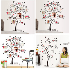 Black Family Tree Wall Decal Sticker Large Vinyl Photo Picture Frame Removable E