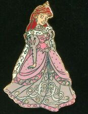 Ariel Little Mermaid Pave Jeweled pink Holiday dress Gown LE disney Shopping pin