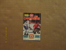 NHL Les Canadiens Vintage Circa 1988-1989 Hockey Logo Pocket Schedule