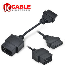 17pin to 16pin OBD2 OBDII Cable Diagnostic Tool Cable for Toyota Lexus Round