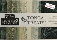 "Timeless Treasures Fabrics ""CANYON"" Tonga Treats Black Batiks, 40 Piece Charm"