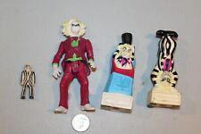 Beetlejuice lot 4 figures 1989 movie & cartoon spin-head mini burger king totems