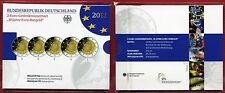 5 x 2 Euro Deutschland 2012  10 Jahre Euro-Bargeld - Spiegelglanz PP Blister OVP