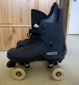 Roces Black Quad Roller Skates UK 8 Very Good Condition