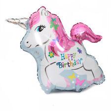 Unicornio hermoso globo de aluminio fiesta globos cumpleaños día decoraciónGK