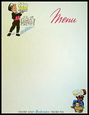 Ancien menu FISCHER GOLD - vintage