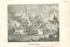 Bataille navale de Palerme 1676 la guerre de Hollande de Louis XIV GRAVURE 1883