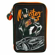 Depesche  Monster Cars Filled Triple Pencil Case, Alex and His Cart