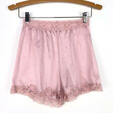 Vintage Vassarette Womens Medium Pink Bloomer Shorts Pettipants Lace Trim