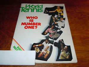 """VINTAGE FEBRUARY 1976 """" WORLD TENNIS """" MAGAZINE - WHO IS NUMBER ONE COVER"""