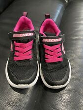 Girls Black & Pink Sketchers trainers size 10.5