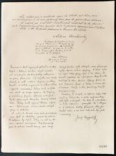 1926 - Lithographie Antoine A. Osuchowski, Simon Askenazy, Josef Weyssenhoff