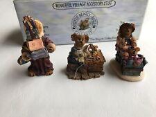 Boyds Collection Accesory Ted E Bear Shop Set #2 19501-2 Wunnerful Village