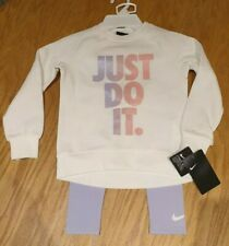 GIRLS NIKE TRACKSUIT OUTFIT NIKE SWEATSHIRT AND LEGGINS AGE 4 GORGEOUS  LOOK