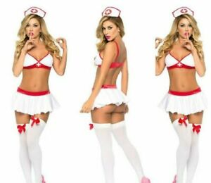 Sexy Nurse School Girl Sexy Secretary Maid Fancy Dress Costume Cosplay Outfit UK