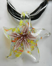 Hand Made Glass Pendant and Necklace - Gift Box - BNIB