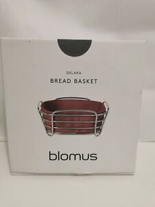 Blomus Bread Basket Small Darabi Steel Wire Chromed Cotton Inlay Withered Rose