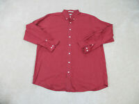 LL Bean Button Up Shirt Adult Extra Large Red Plaid Long Sleeve Outdoors Mens
