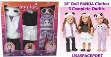 "My Life As 18"" DOLL PANDA Purple Shoes Sleepwear Fur Clothing Set American Girl"