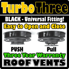 Van Roof Extractor Fan Vent Air Wind Powered 12v Electricity Not Required BLACK
