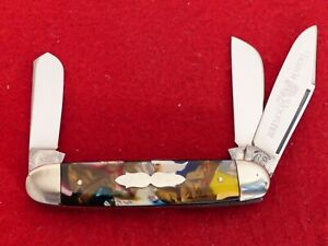 """Fight'n Rooster Germany 3-5/8"""" mint End of Day equal end stockman knife ld"""