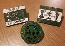 More details for celtic treble winners 2018-2019 pin badge set gift