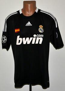 REAL MADRID 2008/2009 THIRD FOOTBALL SHIRT ADIDAS SIZE L ADULT CHAMPIONS LEAGUE