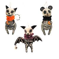 Bethany Lowe Animal Skeleton Hanging Halloween Decoration Bat Cat Mouse Ornament