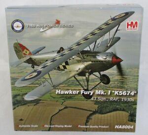 Hobbymaster HA8004 - Hawker Fury Mk.1 'K5674'                 1:48 Scale Diecast