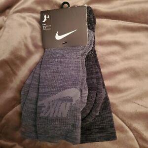 Nike Socks 2 pairs large crew   black and gray