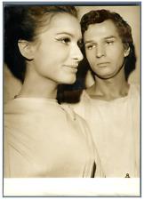 Ludmila Dimitrienko Mikael et Michel Gonon Vintage silver print. Paris, concou