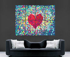 LOVEHEARTS POSTER ABSTRACT LOVE MOSAIC MOOD ART PRINT IMAGE PICTURE WALL ART