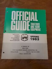 Vintage Official Guide Tractors And Farm Equipment Spring 1983