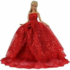 1 Vestido Novia Ropa de Noche Black Fiesta 11.5 inch muñeca para Barbie Doll