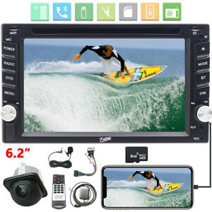 """Car Stereo Double 2DIN 6.2"""" Mirror Link Bluetooth Audio DVD GPS NAV Touch Screen"""