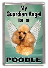 "Poodle (Apricot) Dog Fridge Magnet ""My Guardian Angel is a Poodle"" by Starprint"