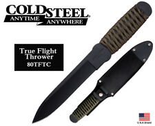 "Cold Steel 6.75"" Fixed Blade Knife True Flight Thrower 1055 Carbon Steel 80TFTC"