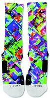 Nike Elite socks custom Colorful Abstract