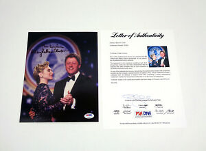 President Bill Clinton & Hillary Clinton Signed Autograph 8x10 Photo PSA/DNA COA