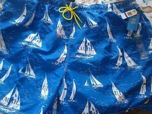 NWT NAUTICA QUICK DRY OCEAN BREEZE SAILBOAT BOAT SWIM TRUNKS RARE 6XL XXXXXXL