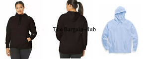 Champion Women Hoodie Plus Size Powerblend Fleece Pullover Hoodie Black, Blue 2X